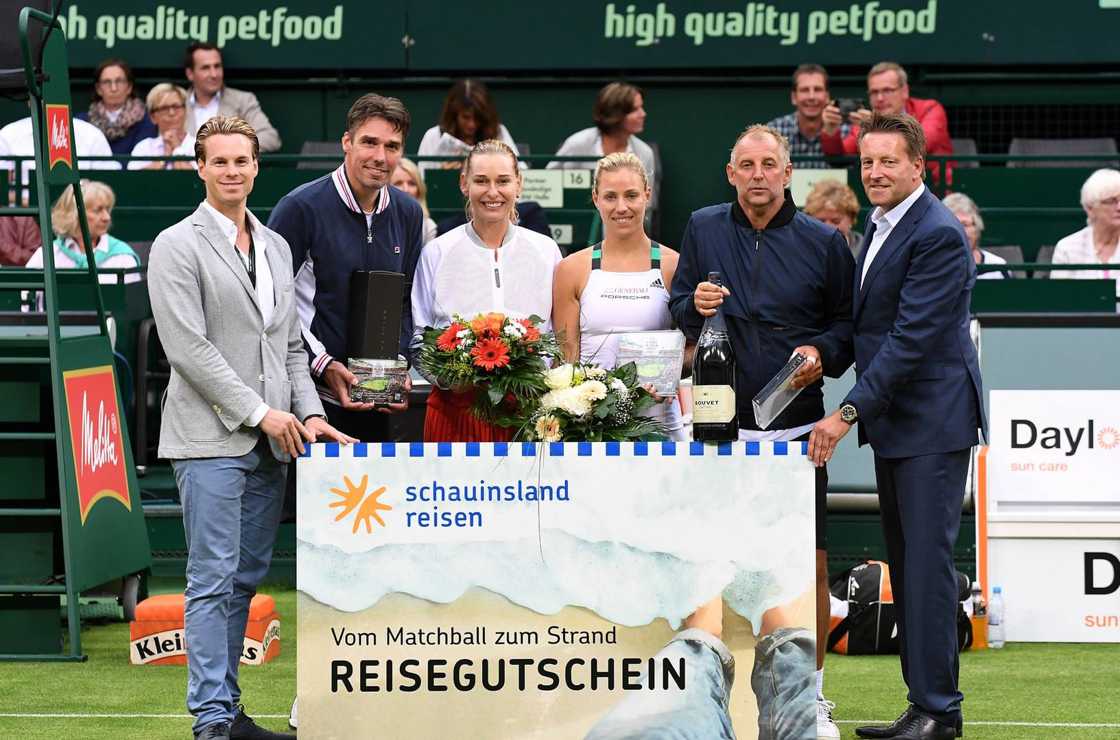 Angelique Kerber and Thomas Muster win the Champions Trophy